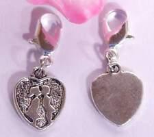 ♥ Charm Anhänger Erster Kuß im Herz silber für Armband ♥ AH297