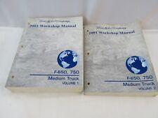 2001 FORD F650 750 MEDIUM TRUCK WORKSHOP MANUALS OEM