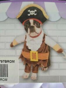 Walking Pirate Caribbean Captain Fancy Dress Up Halloween Pet Dog Costume Size M