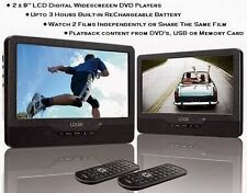 "Logik 9"" 12v Twin Screen In-Car & Portable Car Headrest Dual DVD Player 12Volts"