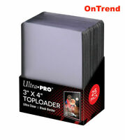 Ultra Pro BLACK TOPLOADER 25 Rigid Card Protector Pokemon Regular TOP LOADERS
