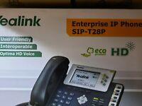 1x YEALINK SIP-T28P , Enterprise IP Premium DeskPhone INT Phone PoE support ,NEW