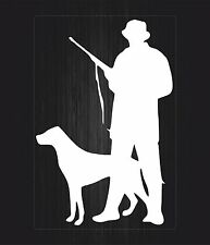 Sticker decal vinyl car bike laptop macbook bumber hunter dog hunting white