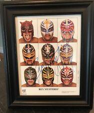 "REY MYSTERIO 2006 WWE Wrestling Black Framed Photo Autographed Signed 11""x13"""