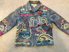 Norm Thompson Embroidered Jacket-patchwork,fun jacket,unusual whimsical jacket