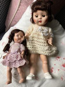 "VINTAGE 1950s 10"" + 6"" Sarold HP dolls (2)"