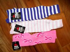 Pink Ribbon Lot of 3 Sports Soccer Softball Volleyball Socks Med ~NEW~ Sale