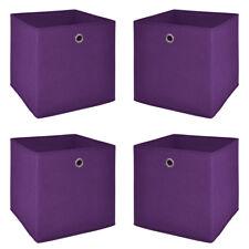 Faltbox 4er Set Korb Regal Aufbewahrungs Box in brombeer 32x32x32 cm
