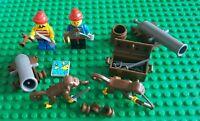 Lego Pirates Minifigures, Canon parts, Monkeys, Weapons, Map, Chest, Vintage