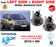 FOR OPEL MERIVA B REAR WHEEL BEARINGS PAIR 2010->ON MPV LEFT + RIGHT HAND SIDE