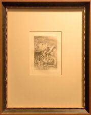 Pierre Auguste Renoir 1894 Le Chapeau Epingle Framed  Original Etching, Restrike