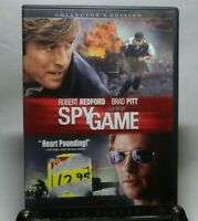 Spy Game (DVD, 2001, Full Screen) Robert Redford Brad Pitt