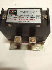 CUTLER HAMMERD60LT1Adjustable Current Relay D60LT1 Ser A2