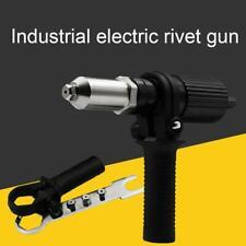 Gun Rivet Adaptor For Electric Cordless Drill Nut Riveting Riveter Tool Metal UK