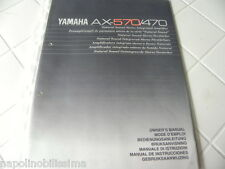 Yamaha AX-570/470 Owner's Manual  Operating Instructions Istruzioni New