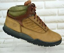TIMBERLAND Mens Brown Leather Outdoor Lace-Up Ankle Boots Shoes Size 9 UK 43 EU