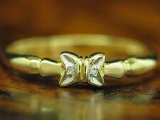 14kt 585 GOLD RING MIT DIAMANT BESATZ / BRILLANT / RG 57 / 1,2g