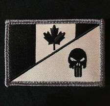 CANADA FLAG PUNISHER SKULL TACTICAL MILITARY SWAT VELCRO® BRAND FASTENER PATCH
