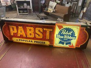 Vintage Pabst Blue Ribbon Beer Lighted Sign (Rare) Man Cave Bar