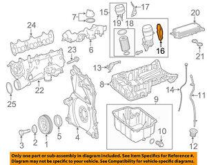 MERCEDES OEM 10-17 Sprinter 2500 3.0L ENGINE-Filter Assembly Gasket 6421840080
