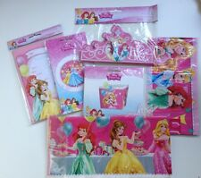 Disney Princess Tablecloth-Lolly Boxes-Invites-Tiara's- Banner- Party Pack BN