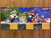 Official Mario Kart 64 N64 1997 Nintendo Power Double-Sided Vintage Game Poster