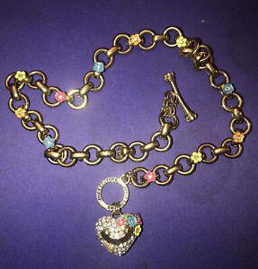 LOVE or HOPE Goldtone Inspirational Necklace w// matching enamel trinket box PICK