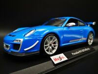 MAISTO 1:18 PORSCHE 911 GT3 RS 4.0  SPECIAL EDITION BLUE