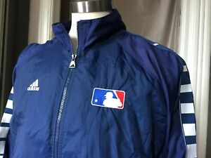 Vintage adidas Original MLB Warm Up Jacket Mesh Lined Windbreaker Men Full Zip L