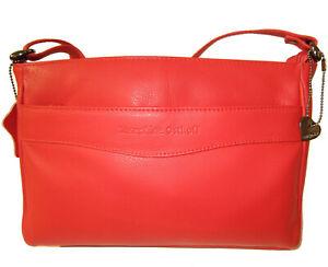 Ledertasche  FLORENZ - Rot -  innen mit Lederfutter DesignerTasche Umhängetasche