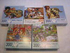 Lot of Bits & Pieces 300 Large Pieces Jigsaw Puzzles CraZart Dogs Labrador Doxen