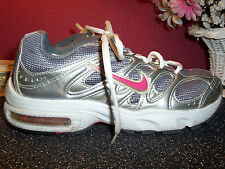 "NIKE AIR MAX ""conquer"" running shoe size 7.5M silver & gray BRS 1000 excellent"
