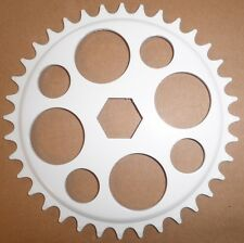 WHITE YOUTH JUNIOR BMX BICYCLE CHAIN RING PARTS 365
