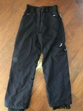 BONFIRE Snowboarding  Silver Series Black Snowpants Winter Ski Pants Womens sz S