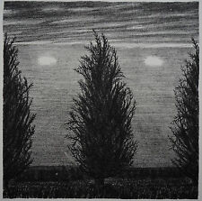 JOHN BEERMAN ORIGINAL SIGNED LITHOGRAPH - THREE TREES,TWO CLOUDS