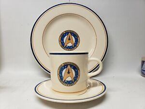 Pfaltzgraff 1993 Star Trek VI USS Enterprise NCC-1701-A  Plate, Saucer & Mug Set