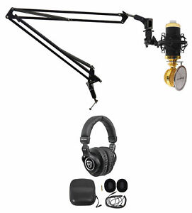 Rockville PC Gaming Streaming Twitch Bundle RCM02 Microphone+Headphones+Boom Arm