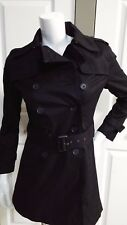NEW BANANA REPUBLIC ELEGANT BLACK  PETITE TRENCH COAT SIZE SMALL