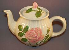 Shawnee hand painted Raised Pink Rose Teapot with Lid tea pot