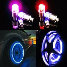 4pcs Wheel LED Lamp Car Moto Bike Wheel Glow Tire Valve Cap Neon Light Colorful