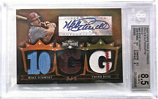 2007 Topps Triple Threads Mike Schmidt Autograph & 3 Relics Card-8/9 FreeS/H