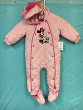 NWT Disney Minnie Mouse Baby Girls Pink Snow Suit SZ.12-18 MO.