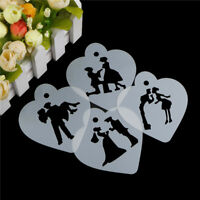 Lovely Wedding Decoration Cake Stencil Couple Lovers Cookie Stencils Cake Tool S