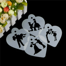 Lovely Wedding Decoration Cake Stencil Couple Lovers Cookie Stencils Cake Tool~