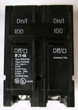EATON CUTLER HAMMER BRH2100 2 Pole 100Amp BR Circuit Breaker 22,000 AIC 120 240V