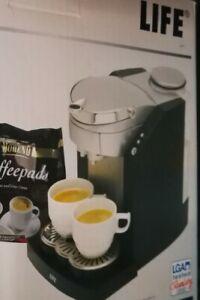 Kaffeepad-Automat-Padkaffeemaschine-NEU-OVP- LIFE MD-12000-ehemals LIDL