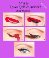 ORIGINAL Quick Eyeliner Stickies Stencils Eye Makeup Tool MINI SET 24 pcs US2