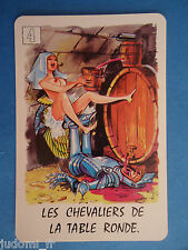 CARTE EROTIQUE ILLUSTREE PAROLES CHANSON - LES CHEVALIERS DE LA TABLE RONDE