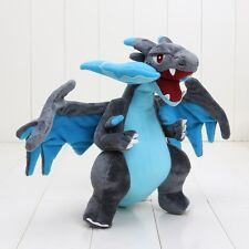 "Pokemon Center Mega Charizard X Character Stuffed Plush 12"" Dragon Doll Toy USA"