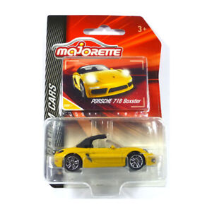 Majorette 212053052 Porsche 718 Boxster Jaune - Premium Voitures 1:64 Neuf °